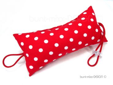 Türstopper rot weiß Punkte, polkadots, doorstopper red white, fiftees red white polka dots, Türpuffer für Klinke, by BuntMixxDESIGN