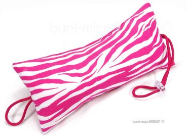 Türstopper ZEBRA pink weiss Animalprint, rose white zebra, open door for pets, Türpuffer, by BuntMixxDESIGN
