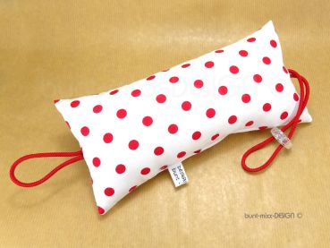 Türstopper weiß rot Punkte, polkadots, doorstopper red white, fiftees red white polka dots, Türpuffer für Klinke, by BuntMixxDESIGN